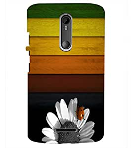 PRINTSHOPPII FLOWER Back Case Cover for Motorola Moto X3::Motorola Moto X (3rd Gen)
