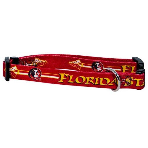 Ncaa Florida State Seminoles Adjustable Pet Collar, Small, Team Color front-747512