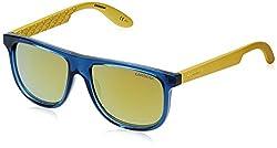 Carrera Mirrored Aviator Unisex Sunglasses (CARRERINO 13 MAACU|50|Gold Lens)