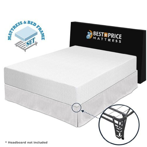 Best Price Mattress 12 Memory Foam Mattress And Premium Bed Frame Set King My Home