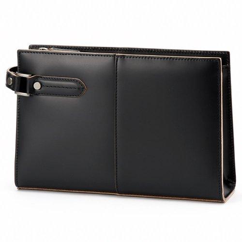 LuggageAOKI(青木鞄)[COMPLEX-GARDENS 枯淡]セカンドバッグ Mサイズ ブラック(3680-10)