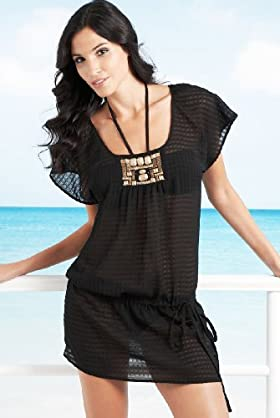 Autograph Exclusive Front Bead Cover Up Tunic - Marks & Spencer :  beach marks spencer beachwear cover up