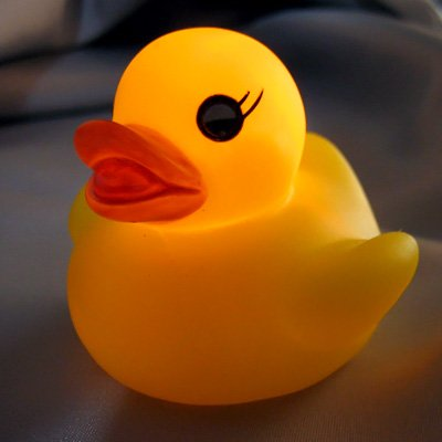 4Pc Waterproof Color Change Changing Led Yellow Duck Bath Bathing Mood Lamp Night Light Baby back-1002917
