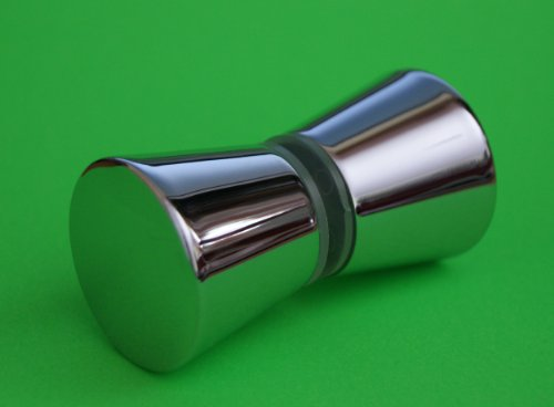2 x Shower Door Handles/ Knobs Chrome Zinc Alloy Cone shaped High Quality L050