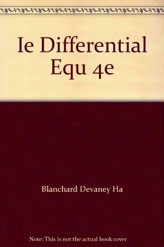 Ie Differential Equ 4e