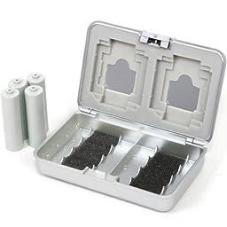Matin Multi Memory Cards 8 Batteries Safe Case Protect FRI/EM Damage - Silver