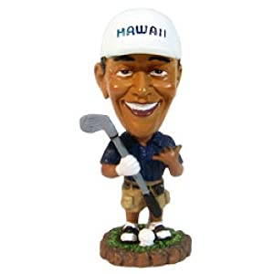 Bobble Head Doll Obama Golf 4'' tall 0676 Barack Obama dashboard dolls - Car dashboard decor - Perfect gift or souvenir