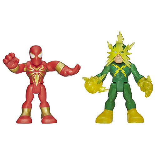 Playskool Heroes Marvel Super Hero Adventures Iron Spider-Man And Electro Figures front-820395