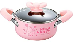 Sanrio Hello Kitty Pink Heart Soup Pot Cooking Pan #0405 by JapanBargain