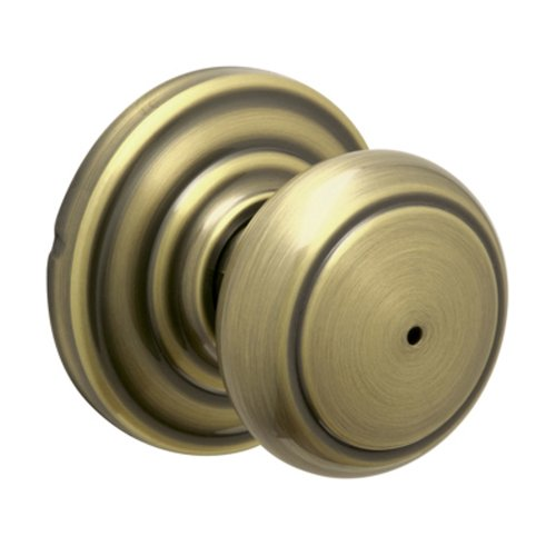 Schlage Andover Privacy Knob, Andover Rose, Antique Brass