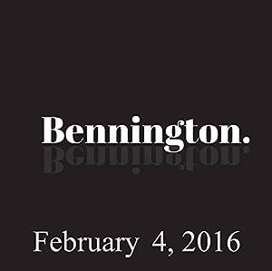 Bennington, February 4, 2016 Radio/TV Program