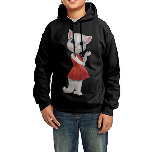 [Proro Talking Cat Angela Long Sleeve Round Neck Warm Sweatshirts Hood For Teenager] (The Office Angela Costume)