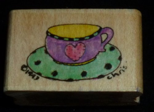 Tea Cup Rubber Stamp - 1