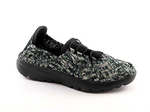GRUNLAND ELAS SC1979 grigio scarpe donna sneakers tomaia elasticizzata slip on 36