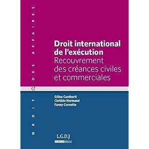 Droit international de l'exécution : Recouvrement des créances civiles et commerciales