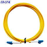 EB-LINK LC to LC Fiber Optic Cable Jumper Patch Cord Simplex Single-mode 9/125 LC-LC,100 Meters (328 feets)