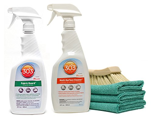 303 High Tech Fabric Guard Cleaner Combo Cloth