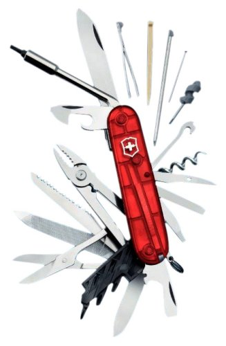 Victorinox Cybertool 41, 41 Functions, Color: Translucent Red