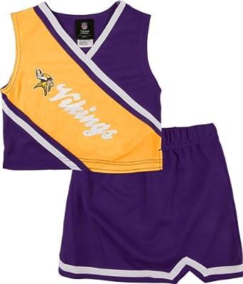 Minnesota Vikings Girls 2-Piece Cheerleader Set by Kids NFL Team Apparel