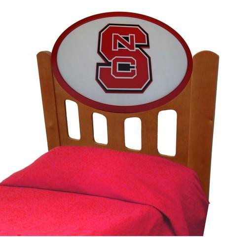 Cheap NCSU NC State Wolfpack Kids Wooden Twin Headboard With Logo (C0526S-NC State)