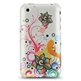 GNWE Premium Hard Crystal Plastic Snap-on Case for Apple iPhone 3G, 3GS 3G-S &#8211; Pearl White Autumn Floral Flower