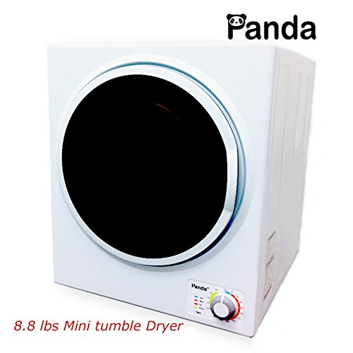 Panda Small Mini Stainless Steel Tumble Dryer8.8lbs Compact Apartment Dryer Pan745sf