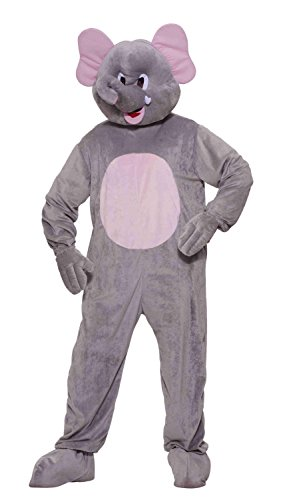 Forum Novelties Men's Ernie The Elephant Plush Mascot Costume, Gray, Standard