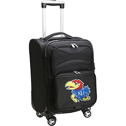 denco-sports-luggage-university-of-kansas-20-black-domestic-carry-on-spinner