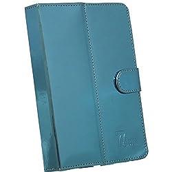 BRAIN FREEZER G10 MIRROR 7INCH FLIP FLAP CASE COVER POUCH CARRY FOR HCL ME 2G 2.0 LIGHT BLUE