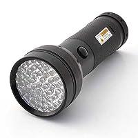 LEDwholesalers 395nm 51 UV Ultraviolet LED Flashlight Blacklight 3 AA, 7202UV395