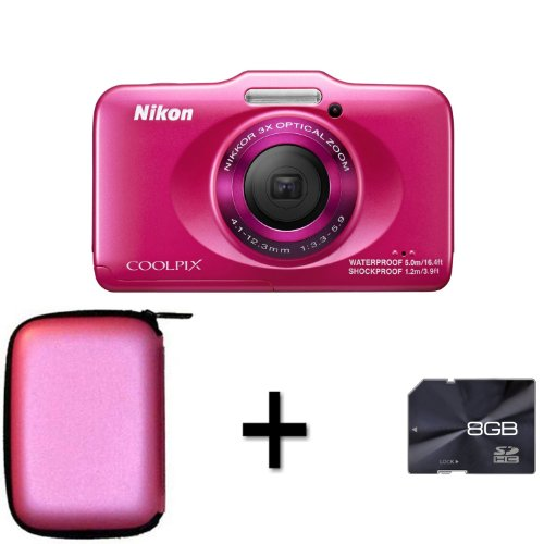 Nikon Coolpix S31 - Pink + Case and 8GB Memory Card (10.1MP Black Friday & Cyber Monday 2014
