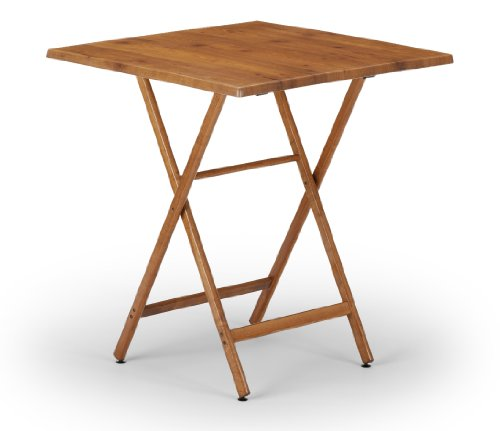 Telescope Casual 36-Inch Square Wood Accessory Table, Adjustable Height, 34.5-Inch and 40-Inch, Walnut Base and Top