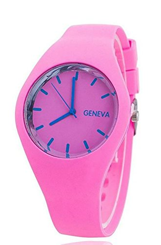Pretty Pink Thin Form Silicone Jelly Watch Light Pink Candy Colors (Steel And Jelly Men compare prices)