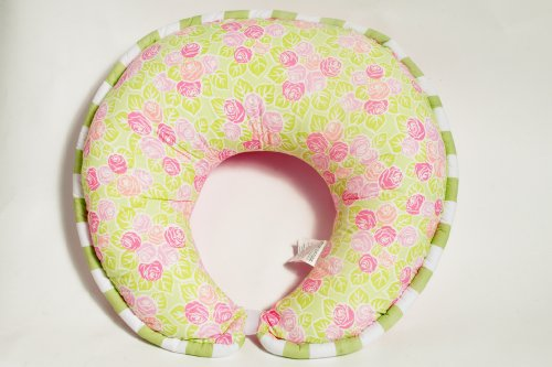 Flower Basket Pink Nursing Pillow Cover Only