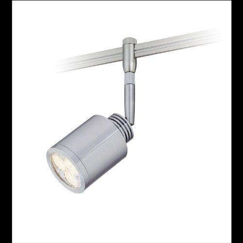 Alico Lighting LRH9000-N-98-29M Brushed Aluminum Zen Contemporary / Modern 3 Light Track Head with Rail Adapter from the Zen Collection