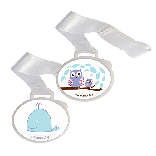 Dreambaby Pacifier Holder, Owl and Whale, 2 Count