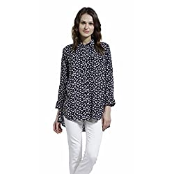 SbuyS Classic Black & White Floral Shirt