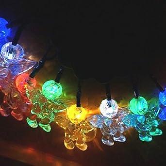 10 Solar Powered Outdoor String Lights Fairy Lights