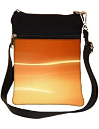 Snoogg Abstract Orange Design Cross Body Tote Bag / Shoulder Sling Carry Bag