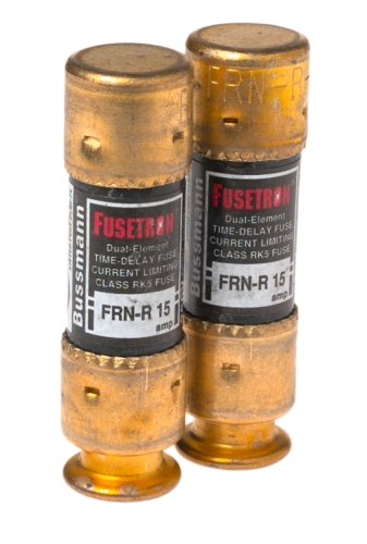 Bussmann Bp/Frn-R-15 15 Amp Fusetron Dual Element Time-Delay Current Limiting Class Rk5 Fuse, 250V Carded Ul Listed, 2-Pack