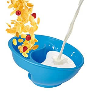 Obol - The Original Never Soggy Cereal Bowl / With The Spiral Slide Design 'n Grip - Lg Blue