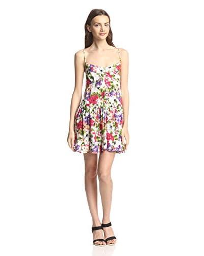 Raga Women's Spaghetti Strap Tropical Floral Print Short Dress