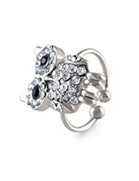 Owl Shape Adjustable Silver Toe Ring For Women By Sarah
