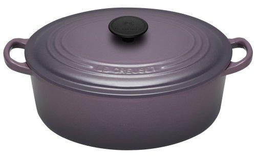 Le Creuset Cast Iron Oval Casserole, Cassis, 27 cm