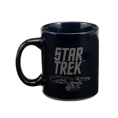 Vandor 80062 Star Trek Enterprise 12 oz Ceramic Mug, Blue