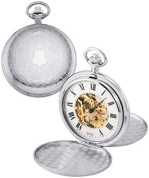 Colibri Classic Mens Mechanical 17 Jewles Etched Crest Pocket Watch Pws095809x from Colibri