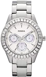 Fossil Women's ES2956 Stainless Steel Analog with White Dial Watch