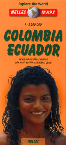 Nelles Colombia & Ecuador Travel Map with Galapagos Islands (Nelles Map)