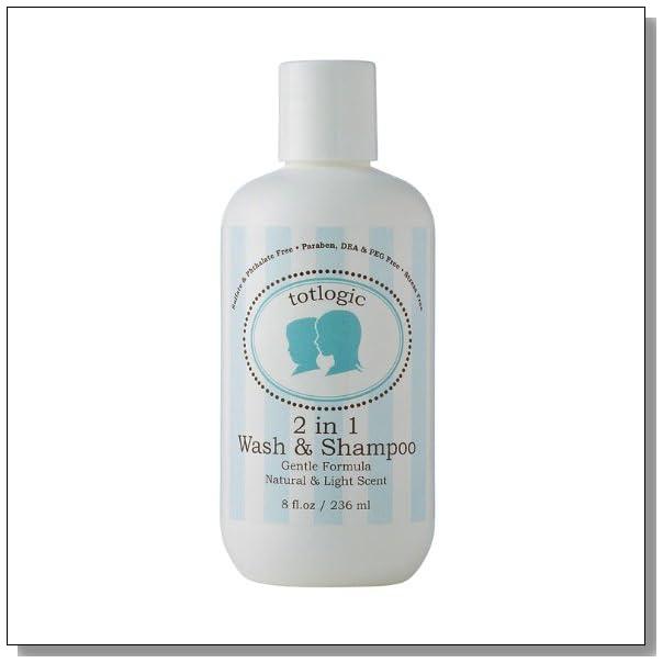 TotLogic 2 in 1 Body Wash & Shampoo - Sulfate free, Phthalate, Paraben, DEA, Formaldehyde, & PEG Free