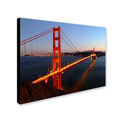 Trademark Fine Art Golden Gate SF by Pierre Leclerc Canvas Wall Artwork